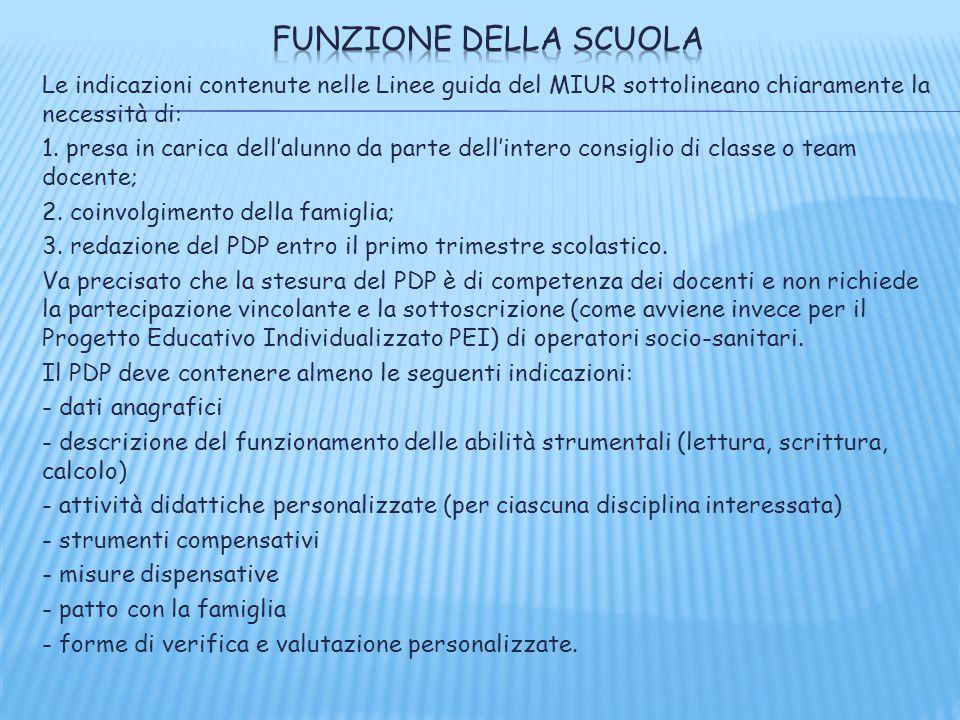 Funzione della scuola