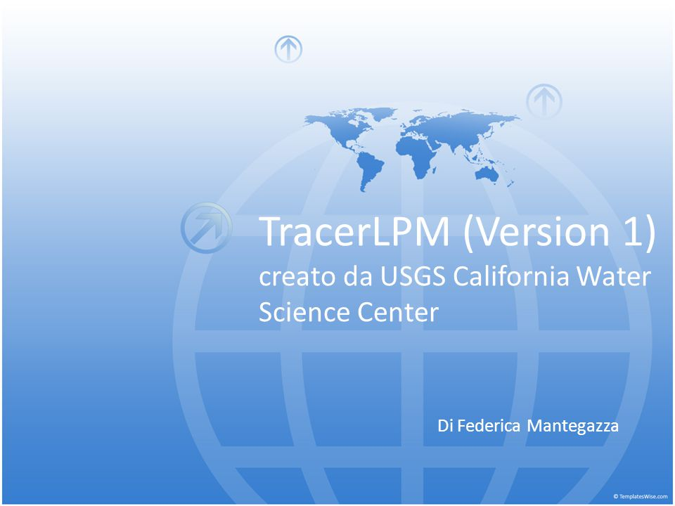 TracerLPM (Version 1) creato da USGS California Water Science Center