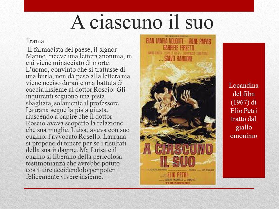Locandina del film (1967) di Elio Petri tratto dal giallo omonimo