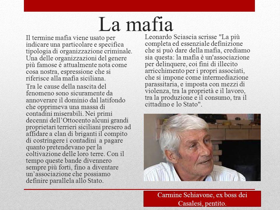 Carmine Schiavone, ex boss dei Casalesi, pentito.
