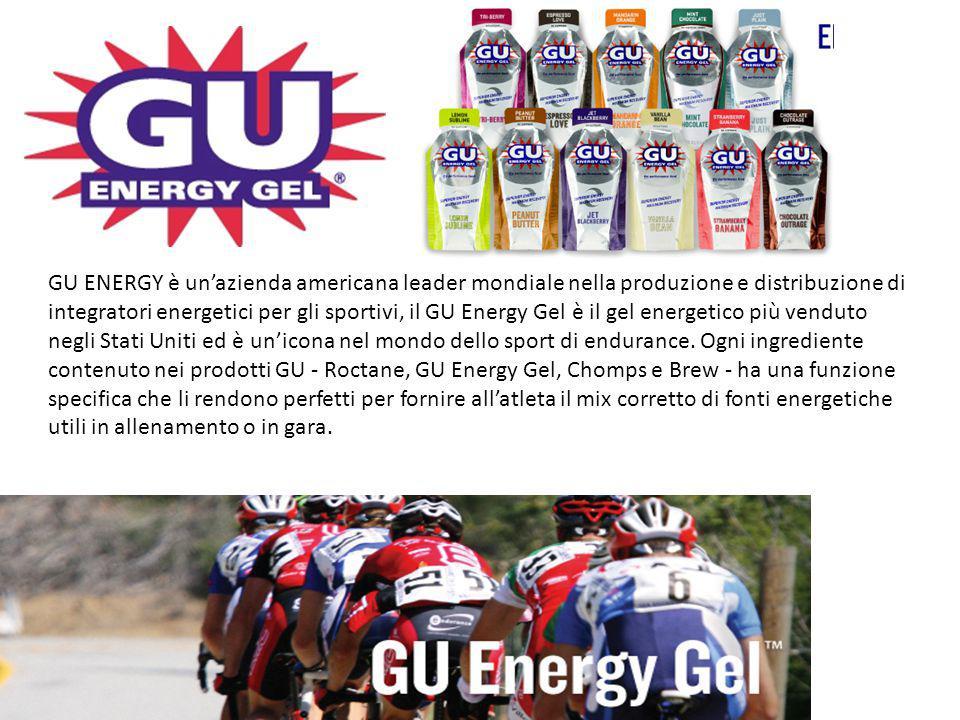 GU ENERGY è un'azienda americana leader mondiale nella produzione e distribuzione di integratori energetici per gli sportivi, il GU Energy Gel è il gel energetico più venduto negli Stati Uniti ed è un'icona nel mondo dello sport di endurance.