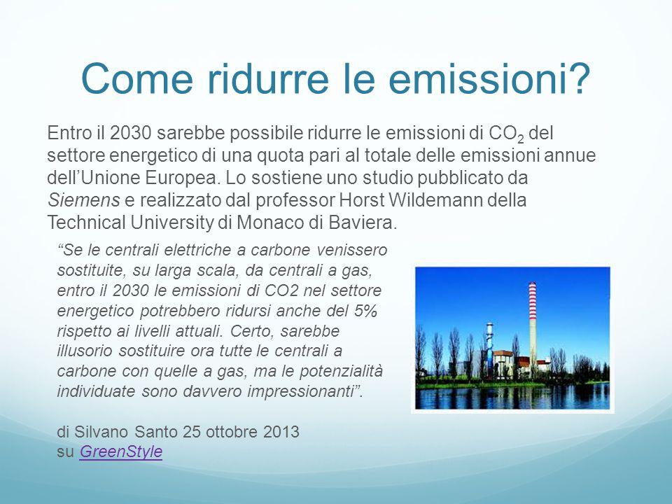 Emissioni delle centrali termoelettriche