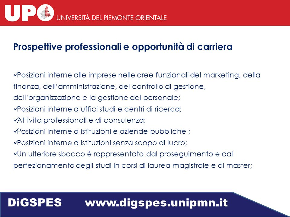 Economia aziendale DiGSPES www.digspes.unipmn.it