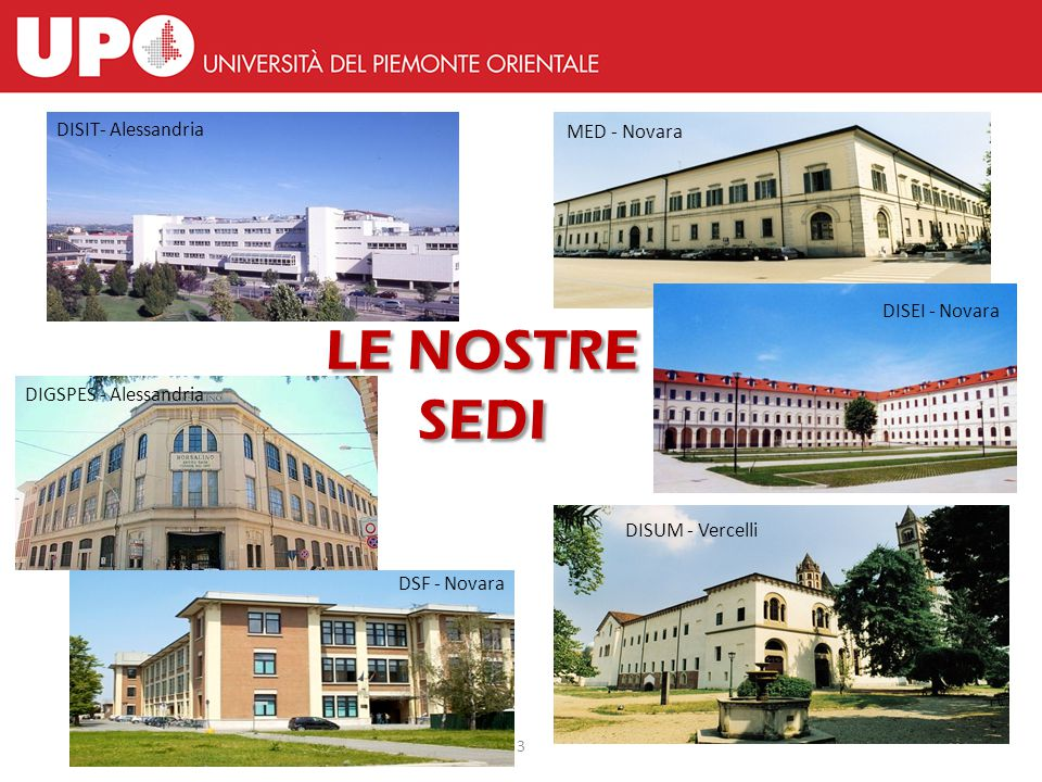 L'Università del Piemonte Orientale