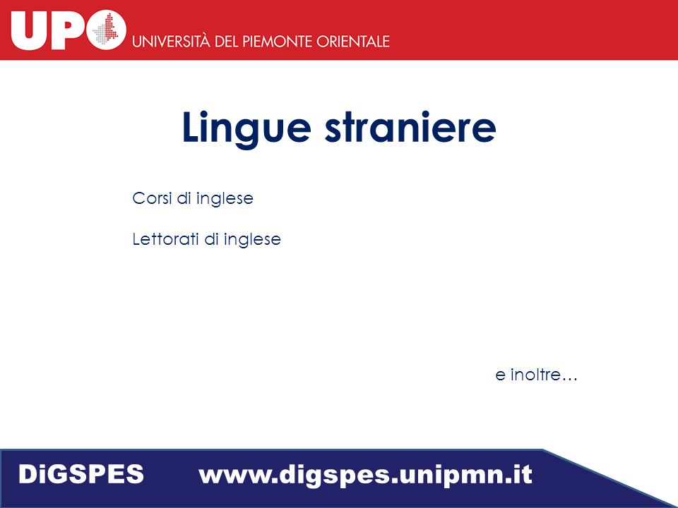 Servizio di tutorato DiGSPES www.digspes.unipmn.it