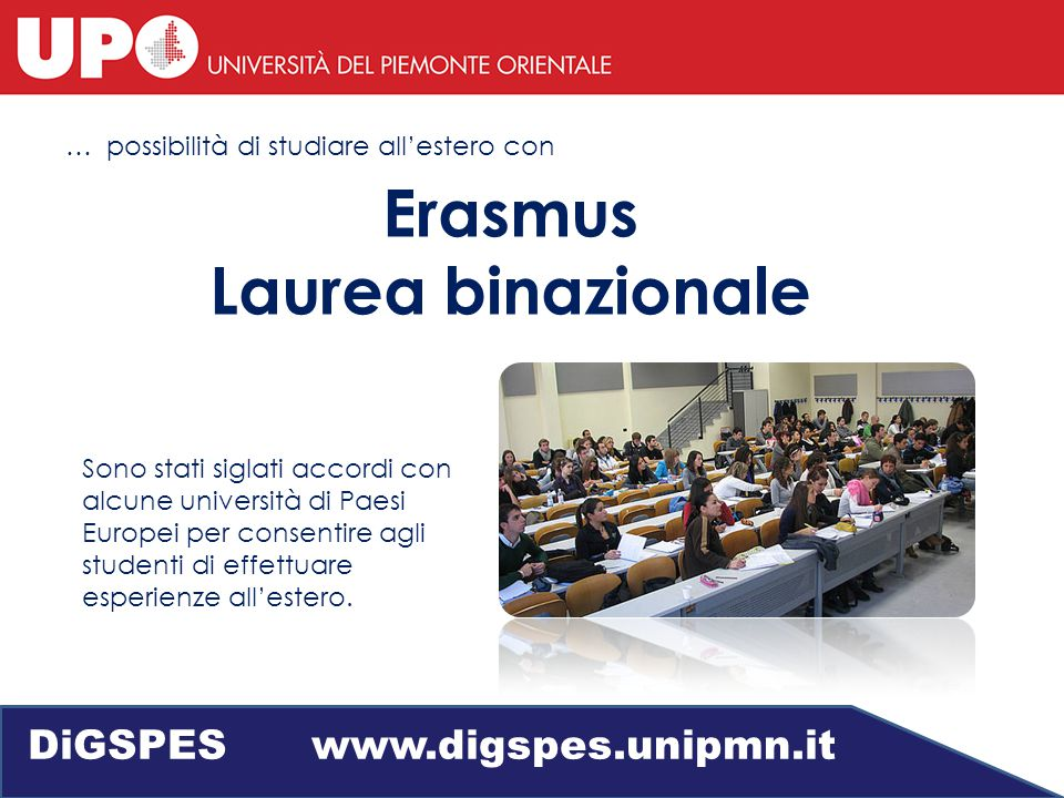 Lingue straniere DiGSPES www.digspes.unipmn.it Corsi di inglese
