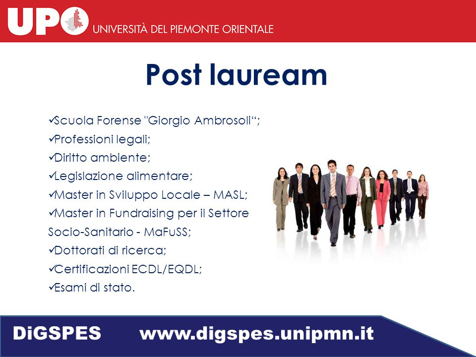 Job Placement DiGSPES www.digspes.unipmn.it