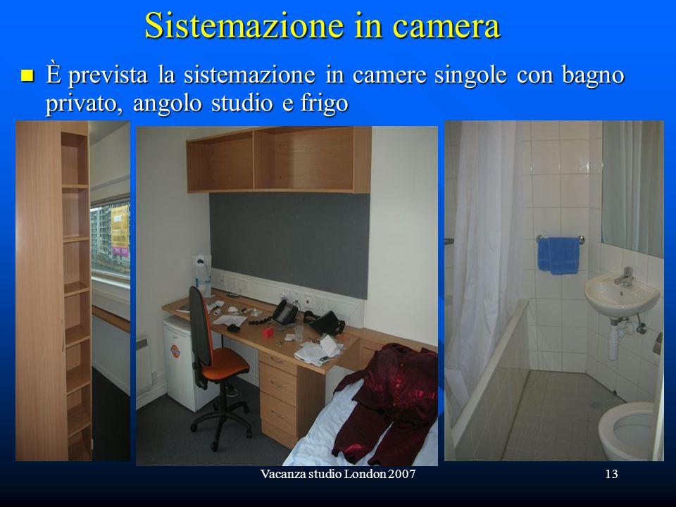 Sistemazione in camera