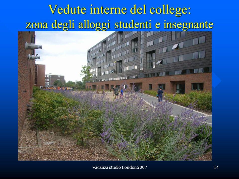 Vedute interne del college: zona degli alloggi studenti e insegnante