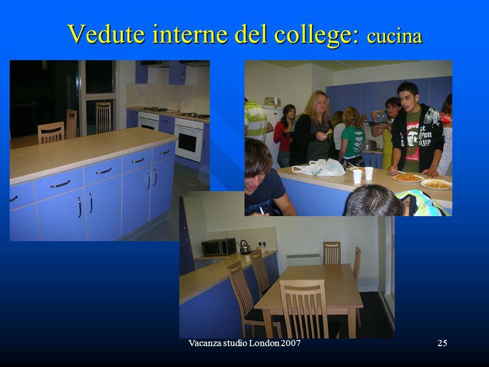 Vedute interne del college: cucina