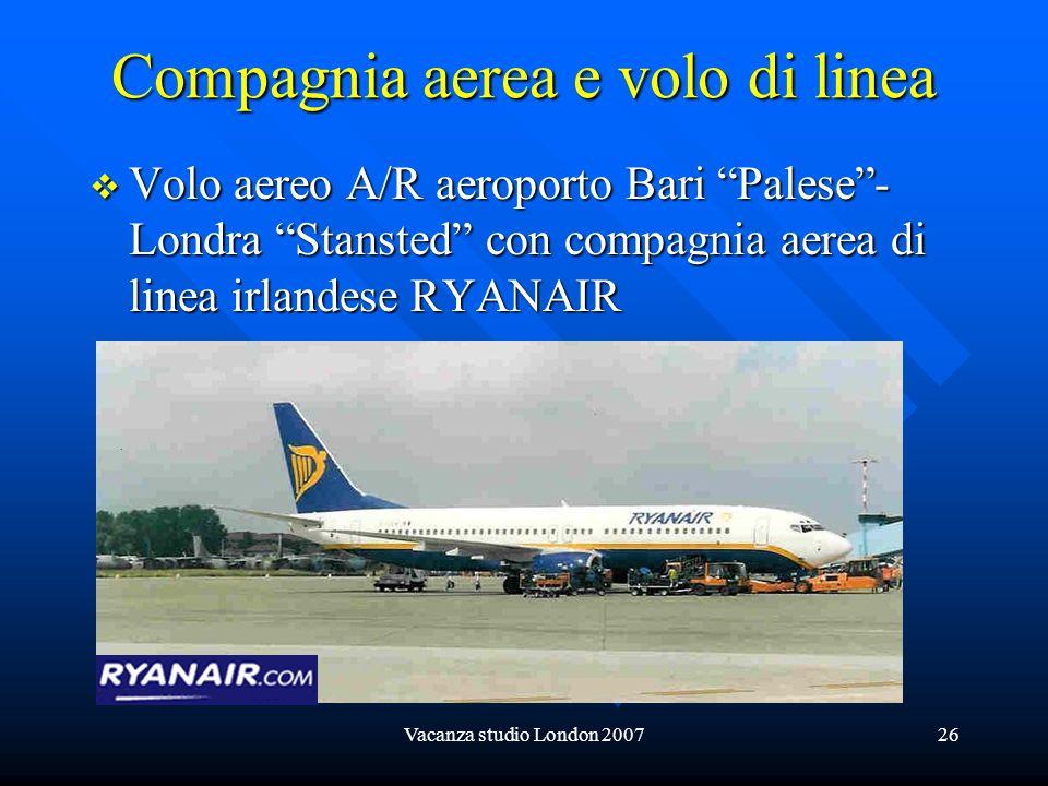 Compagnia aerea e volo di linea