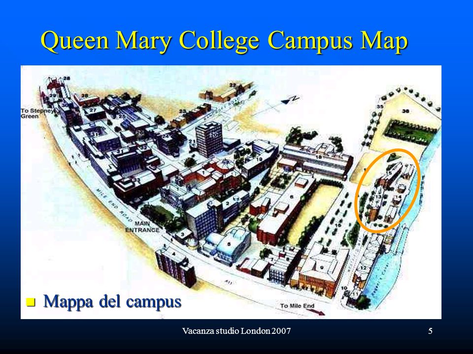 Queen Mary College Campus Map