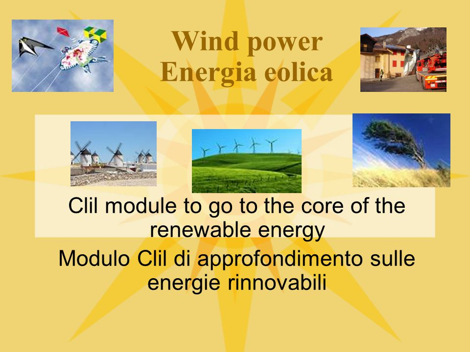 Wind power Energia eolica