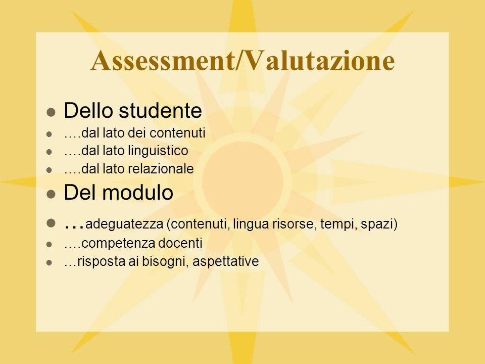 Assessment/Valutazione