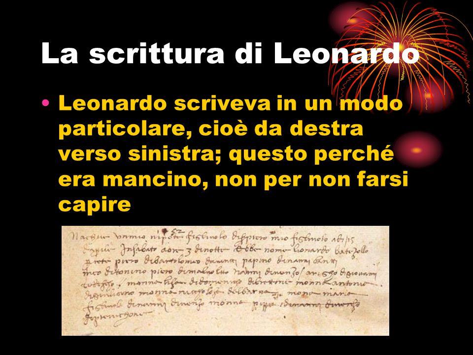 La scrittura di Leonardo