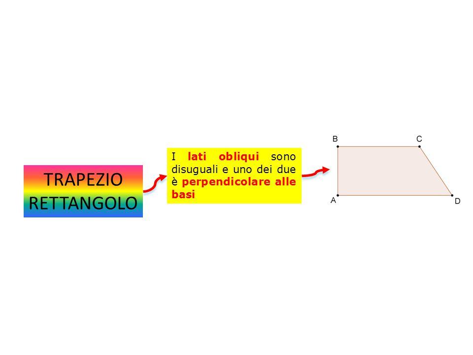I lati obliqui sono disuguali e uno dei due è perpendicolare alle basi
