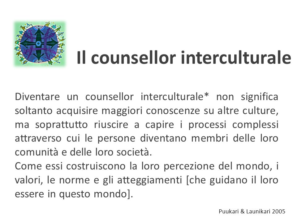 Il counsellor interculturale