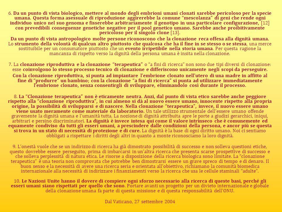 Dal Vaticano, 27 settembre 2004