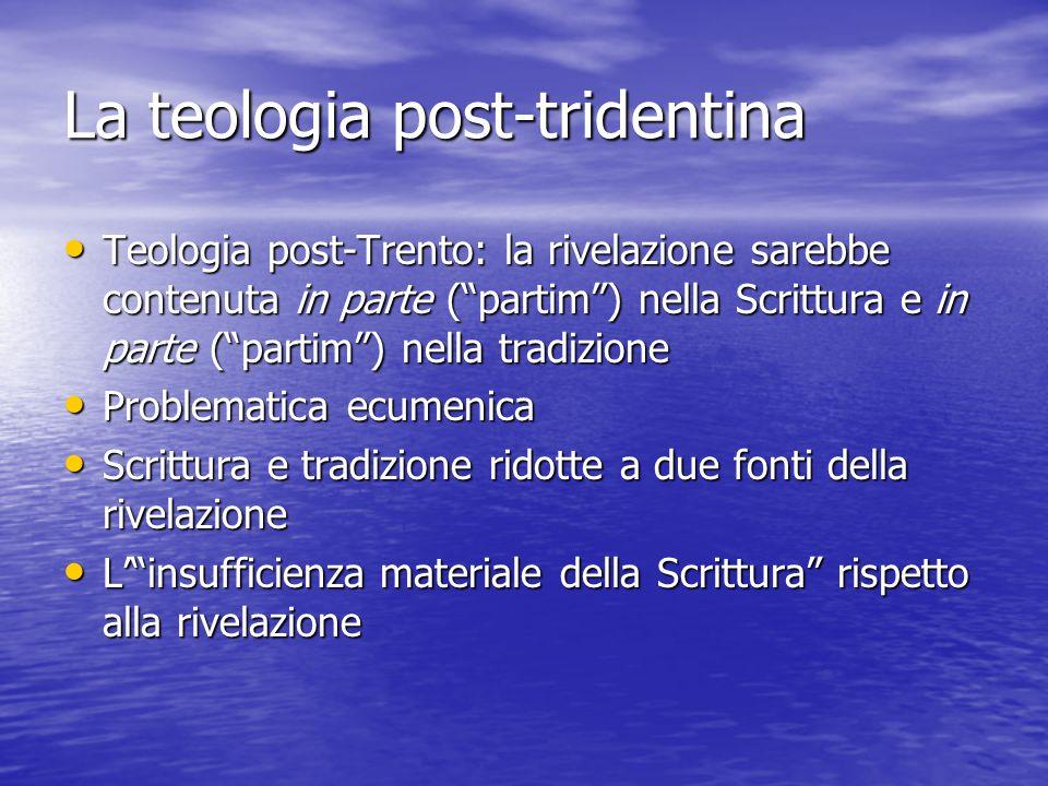 La teologia post-tridentina