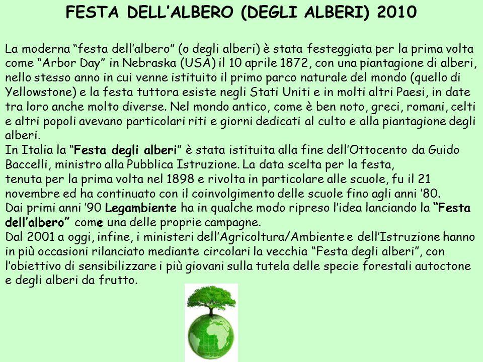 FESTA DELL'ALBERO (DEGLI ALBERI) 2010