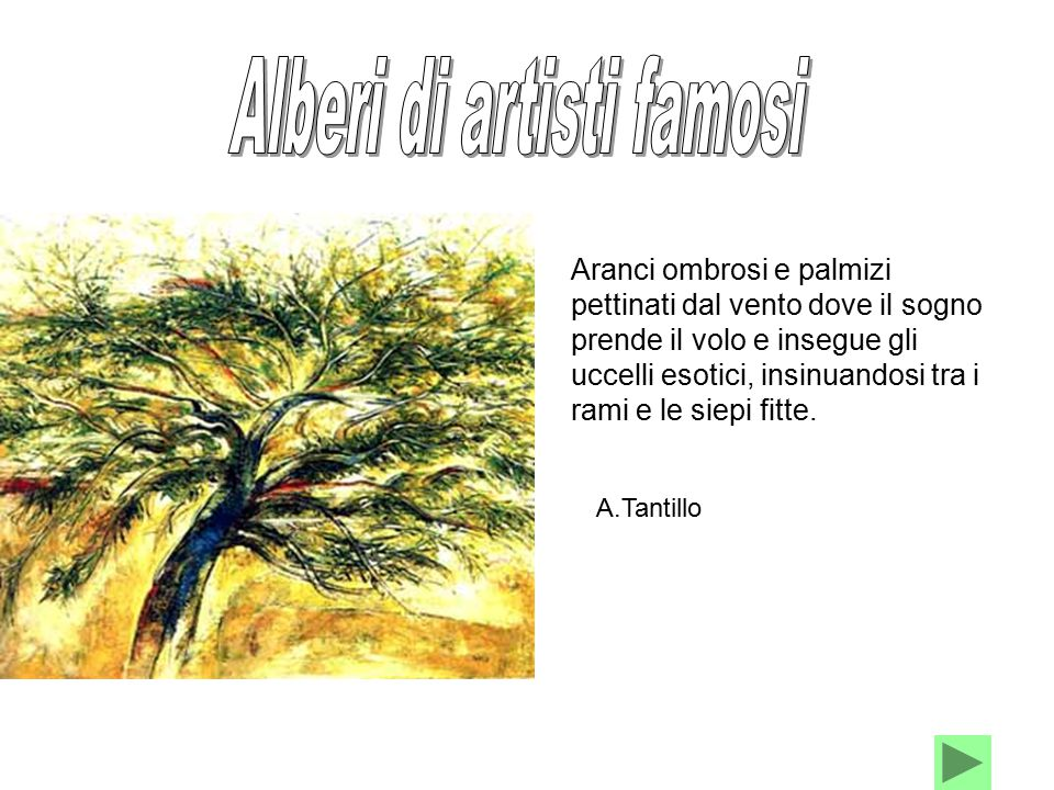 Alberi di artisti famosi