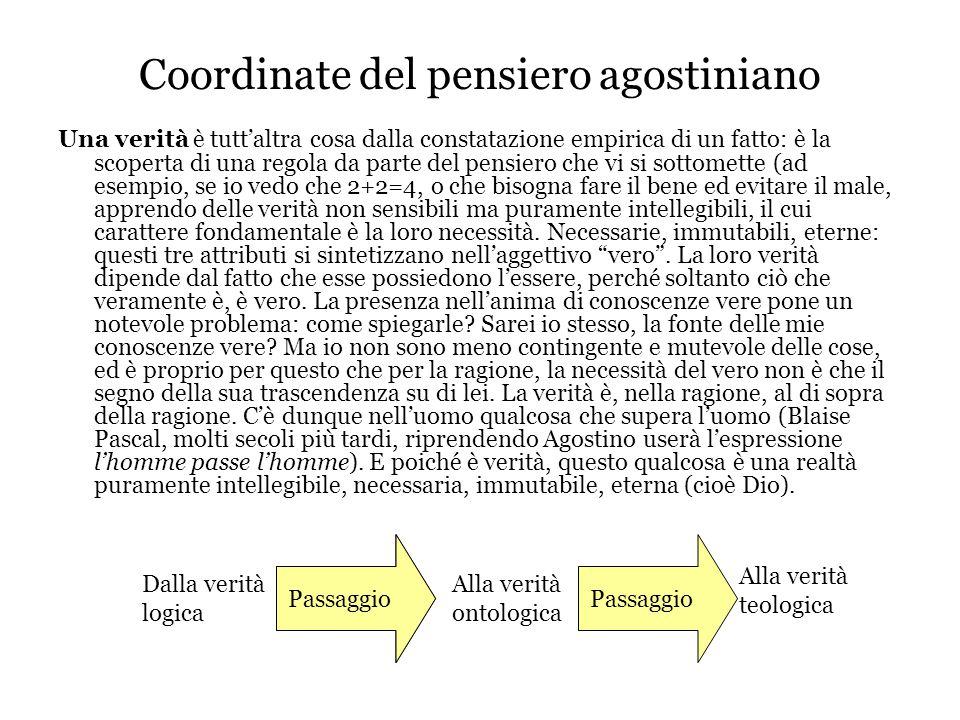 Coordinate del pensiero agostiniano