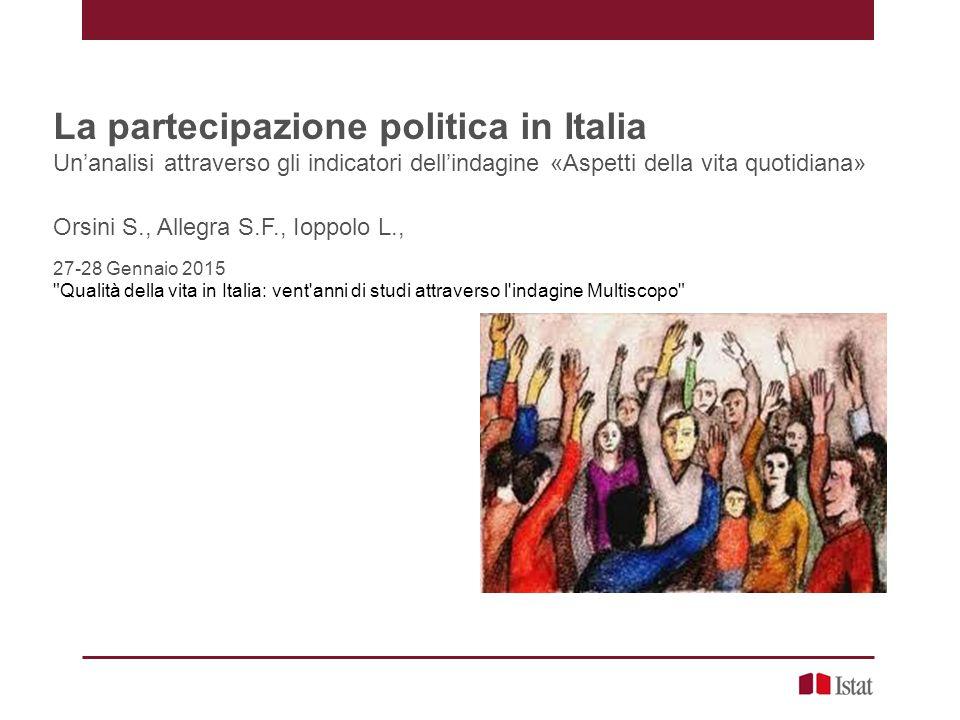La partecipazione politica in Italia