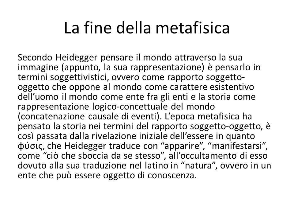 La fine della metafisica