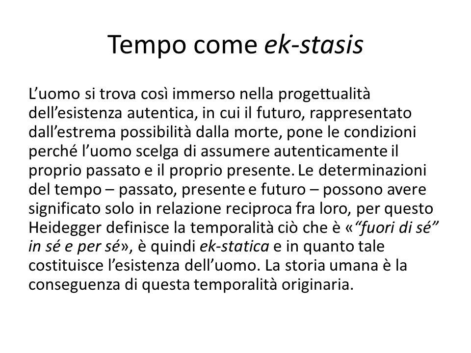 Tempo come ek-stasis