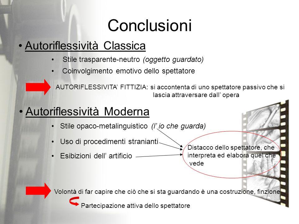 Conclusioni Autoriflessività Classica Autoriflessività Moderna