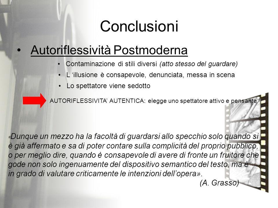 Conclusioni Autoriflessività Postmoderna