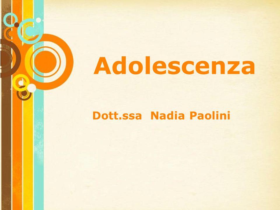 Adolescenza Dott.ssa Nadia Paolini Free Powerpoint Templates