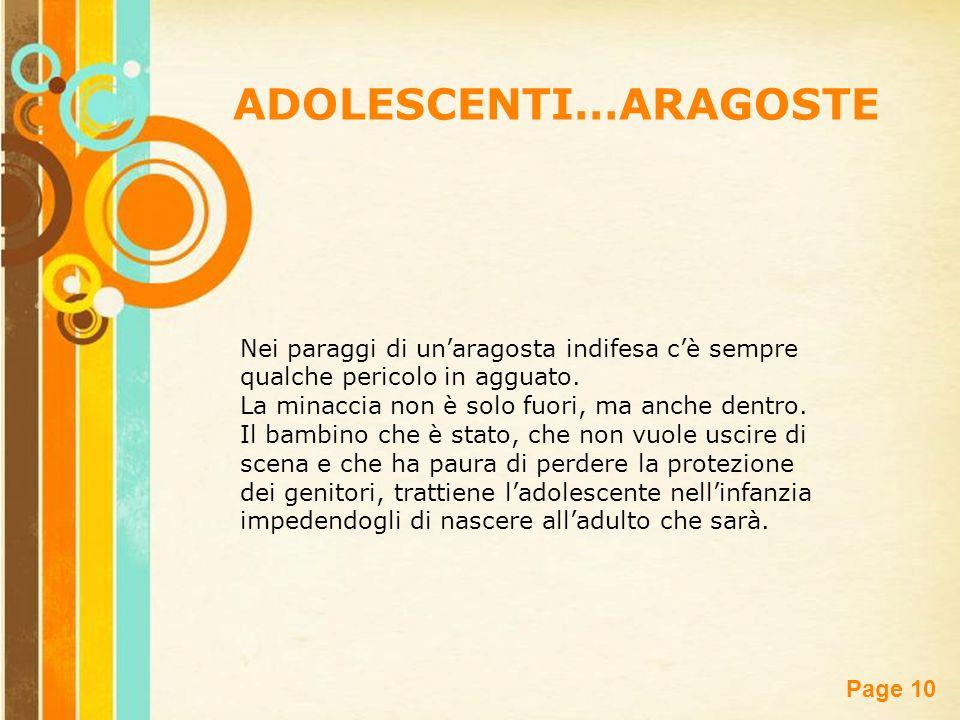 ADOLESCENTI…ARAGOSTE
