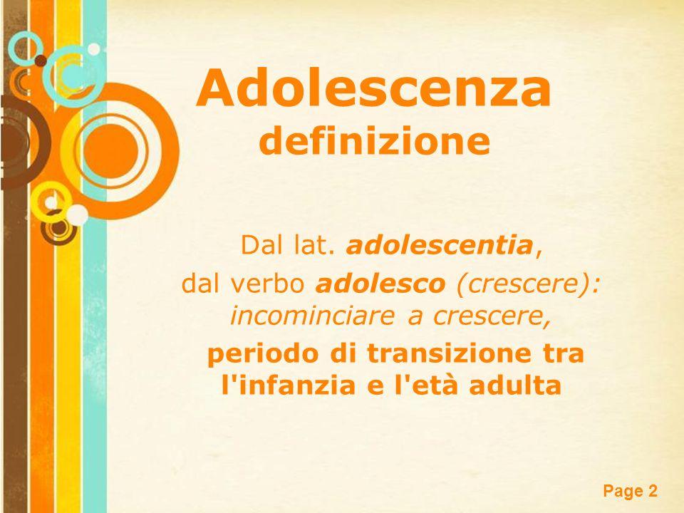Adolescenza definizione
