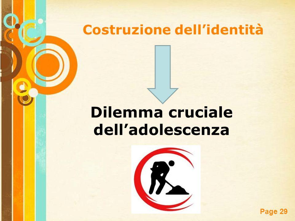 Costruzione dell'identità Dilemma cruciale dell'adolescenza