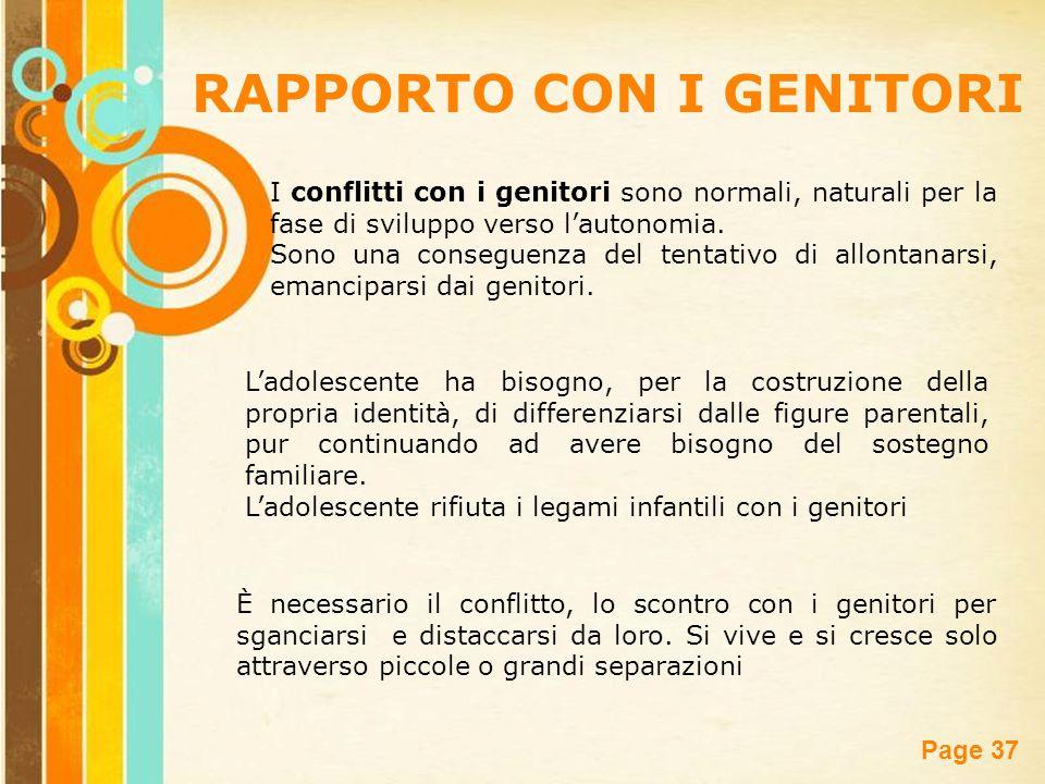 RAPPORTO CON I GENITORI