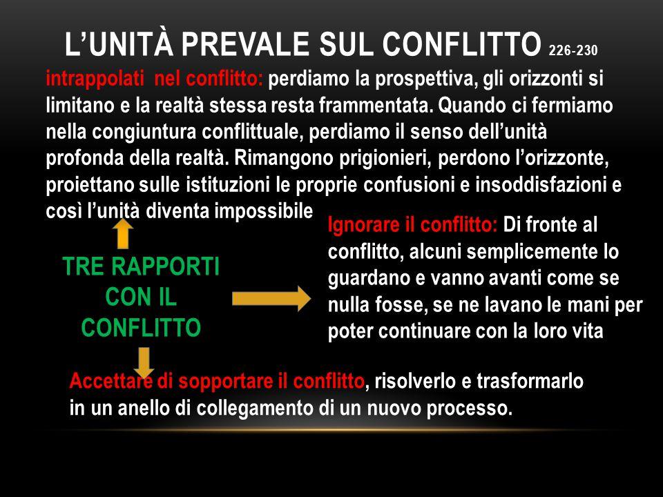 L'UNITà PREVALE SUL CONFLITTO 226-230
