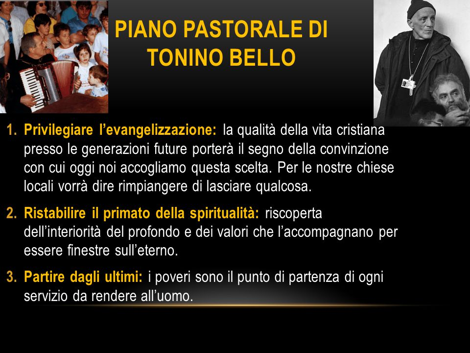 Piano pastorale di tonino bello