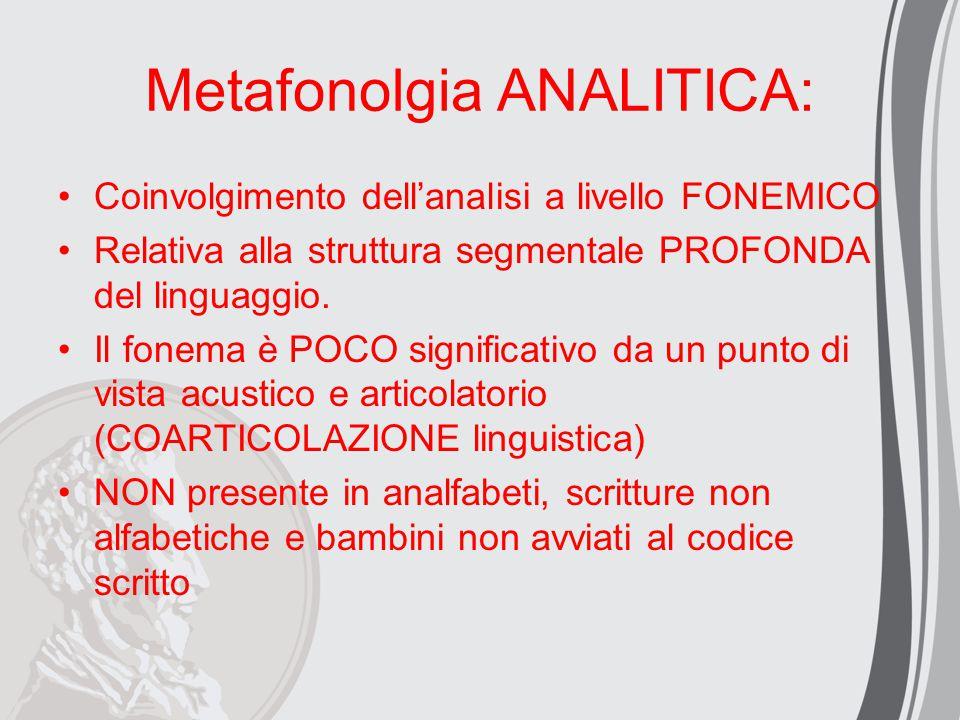 Metafonolgia ANALITICA: