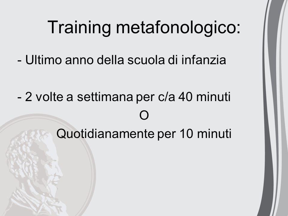 Training metafonologico:
