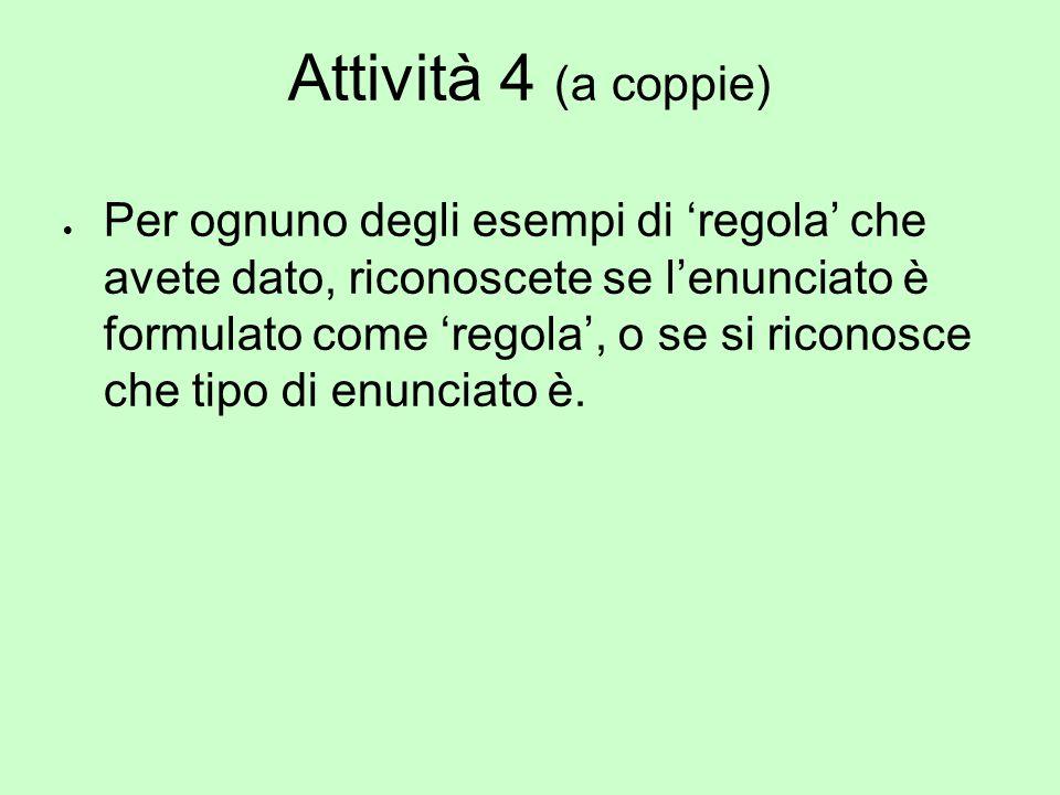 Attività 4 (a coppie)