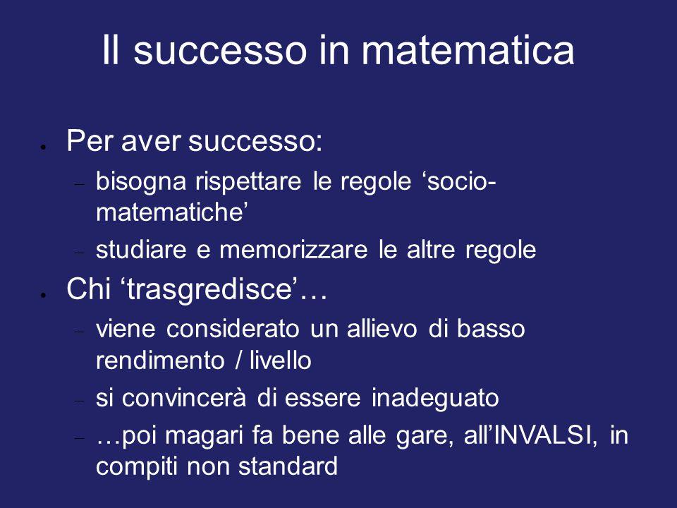 Il successo in matematica