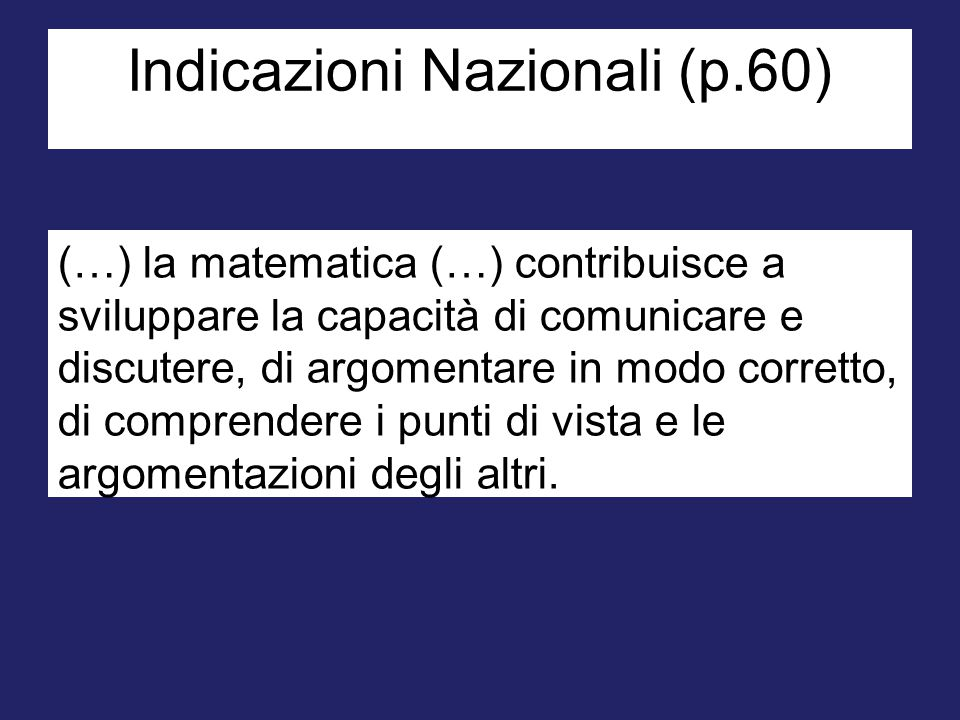 Indicazioni Nazionali (p.60)