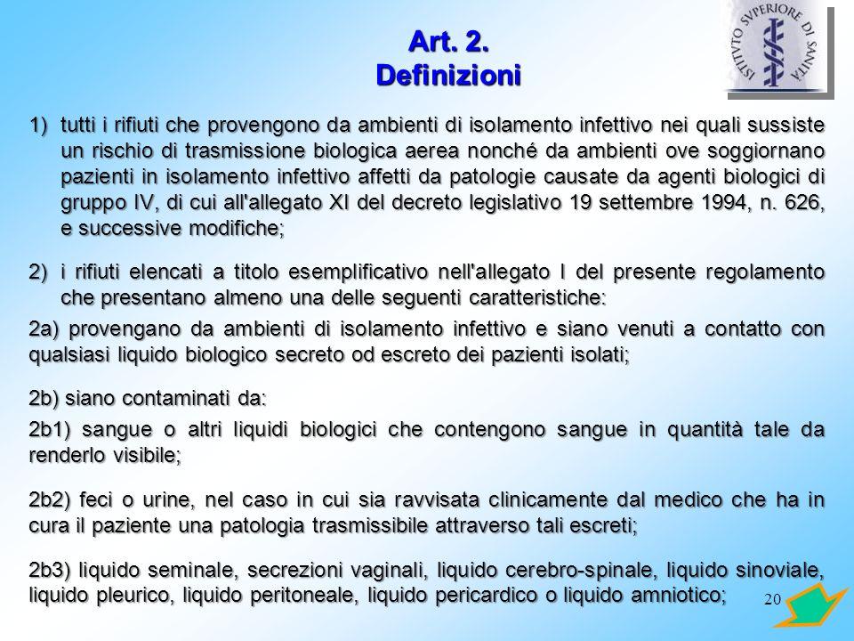 Art. 2. Definizioni
