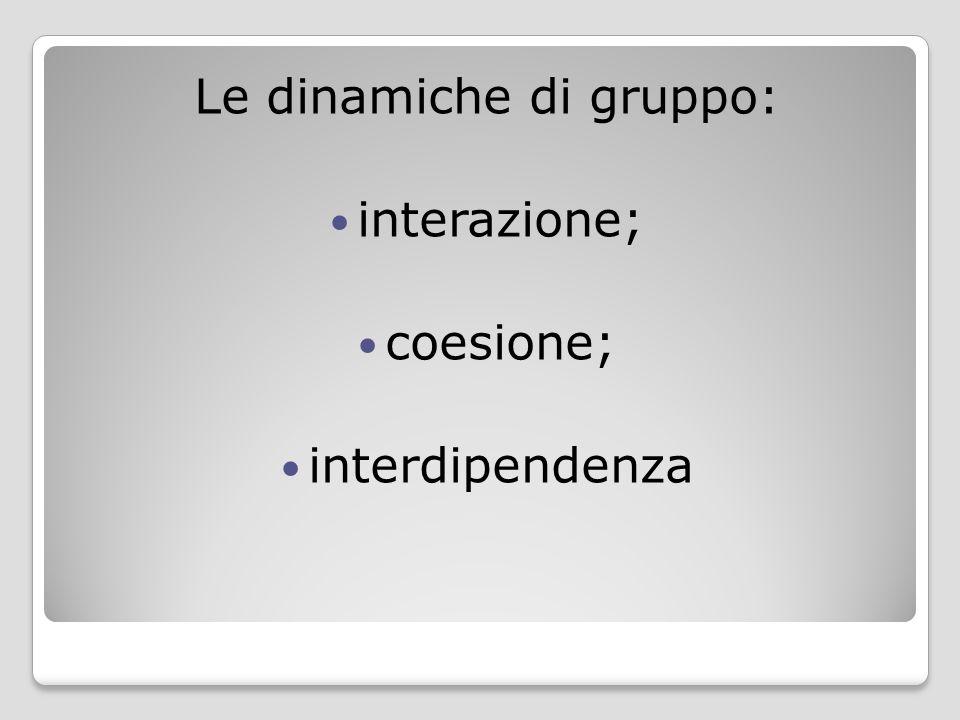Le dinamiche di gruppo: