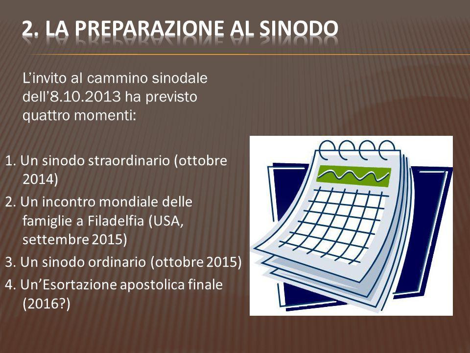 2. La preparazione al sinodo