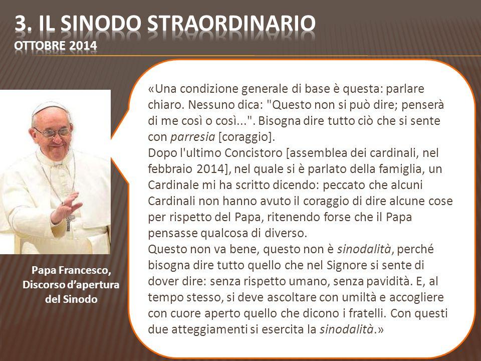 3. Il sinodo straordinario ottobre 2014