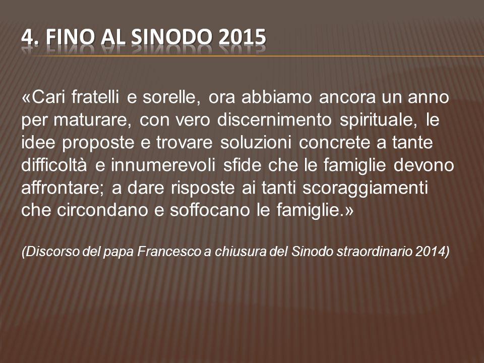 4. FINO AL SINODO 2015