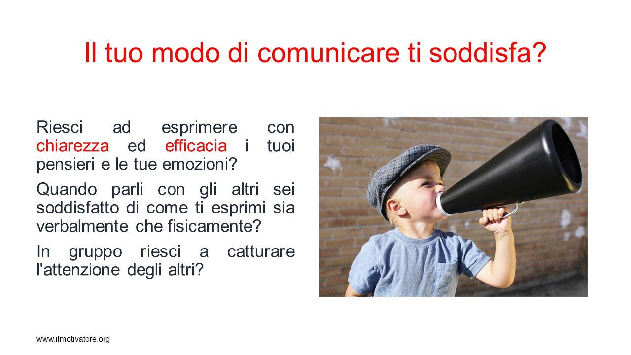 Il tuo modo di comunicare ti soddisfa