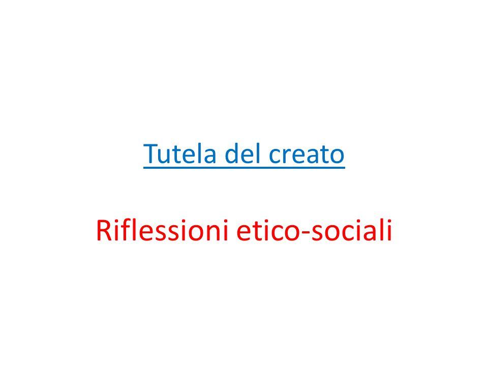 Riflessioni etico-sociali